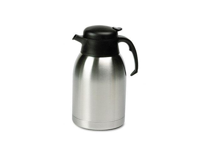 Hormel Stainless Steel Lined Vacuum Carafe, 1.9 Liter, Satin Finish/Black Trim