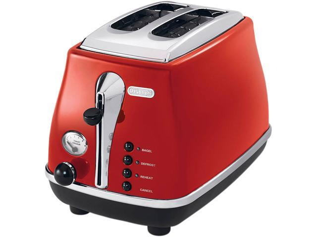 DeLonghi CTO2003R Icona Red 2 Slice Toaster