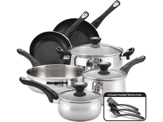 Farberware 78648 New Traditions Stainless Steel 12-Piece Cookware Set Silver