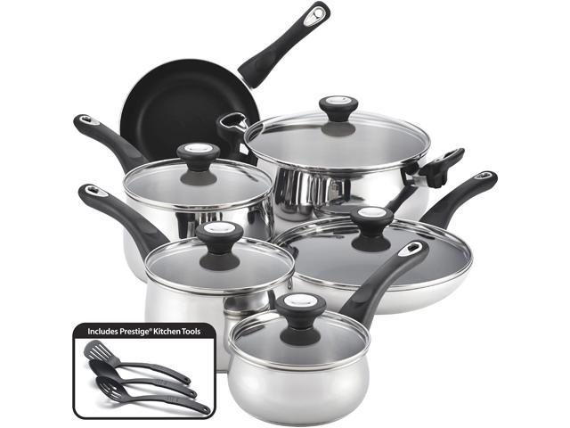 Farberware 78649 New Traditions Stainless Steel 14-Piece Cookware Set Silver