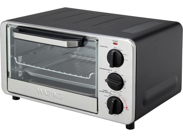 Waring Pro WTO450 Black and Stainless Steel Professional Toaster Oven