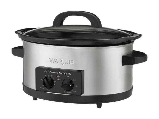 Waring Pro WSC650 Stainless Steel 6.5 Qt. 300-Watt 6.5-Quart Slow Cooker