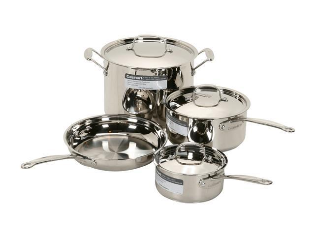 Cuisinart 77-7 7-Piece Chef's Classic Cookware Set Silver
