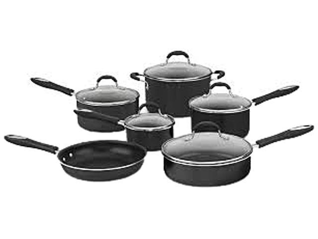 Cuisinart 55-9BK Advantage Non-Stick Aluminum Cookware 9-piece set Black