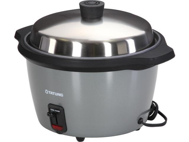 TATUNG TAC-11A Silver-Grey Indirect Heating Rice Cooker and Steamer, 11 CUP