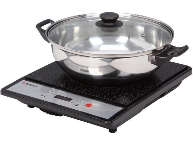 TATUNG TICT-1502MW Portable Induction Cooktop with Stainless Steel Pot (Latest version)