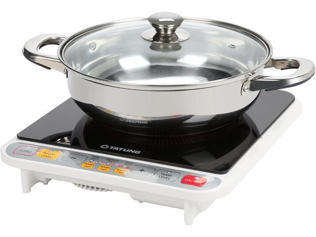 Tatung Tih F1500hu 1500 Watts Induction Cooktop With Stainless Steel Pot