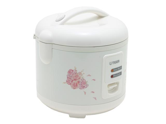 Tiger JAZ-A10U Electric Rice Cooker and Warmer with Steam Basket, White, 11 Cups Cooked/5.5 Cups Uncooked