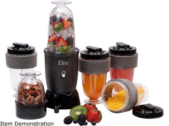 Maxi-Matic EPB-1800 Black Elite Cuisine 300-Watt 16-Oz. 14PC Personal Drink Mixer, Personal Blender