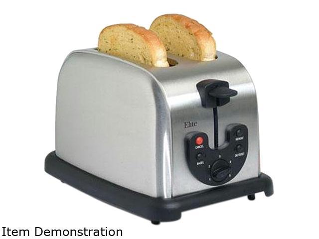 MAXI-MATIC ECT-200X Silver 2-Slice Electronic Toaster