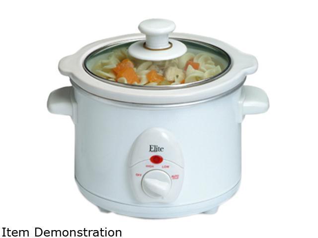 Maxi-Matic Elite MST-250XW White 1.5 Qt. Mini Slow Cooker