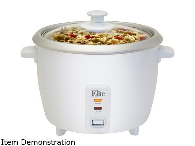 Elite ERC-003ST 6 Cup Rice Cooker with Steam Tray