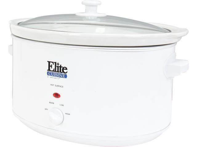 Maxi-Matic Elite Cuisine MST-900VW White 8.5 Qt. Deluxe Sized Slow Cooker