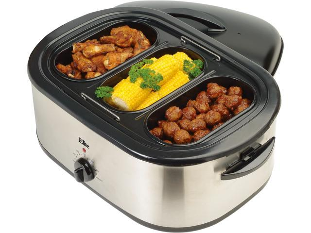 Maxi-Matic ERO-210B Stainless Steel 18 Qt. 18-Quart Roaster Oven w/ buffet server and removable pot