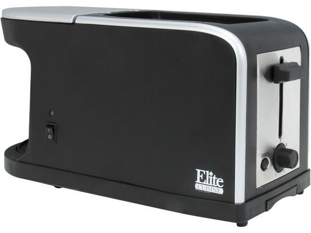 Maxi-Matic Elite ECT-819 Black Elite Cuisine Breakfast Station - 2 Slice Toaster and Single Serve Coffee Maker