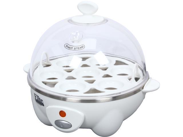 Maxi-Matic EGC-007 White Elite Cuisine Automatic Easy Egg Cooker