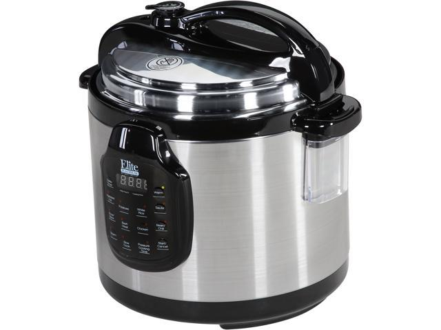 MAXI-MATIC EPC-678SS Elite Platinum 6 Qt. 11-Function Digital Pressure Cooker with Stainless Steel Pot