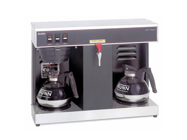 Bunn VLPF Commercial 12 Cup Automatic Coffee Brewer with 2 warmers, Hot Water Faucet Black-Black