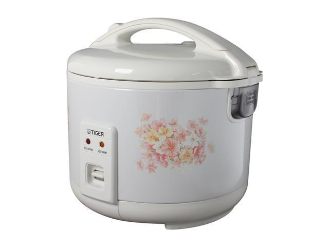TIGER JNP-1500 White 4 Cups (Uncooked)/8 Cups (Cooked) Electronic Rice Cooker/Warmer