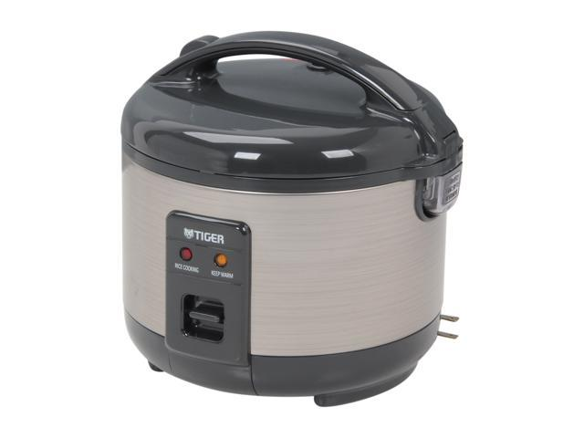 TIGER JNP-S55U Black/Stainless Steel 3 Cups (Uncooked)/6 Cups (Cooked) Rice Cooker/Warmer
