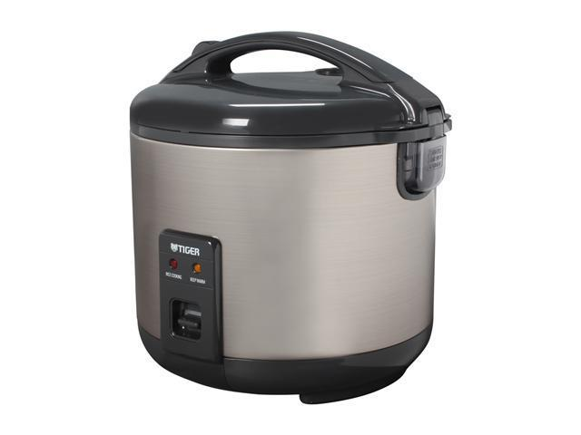 TIGER JNP-S18U Black/Stainless Steel 5 Cups (Uncooked)/10-Cups (Cooked) Rice Cooker-Warmer