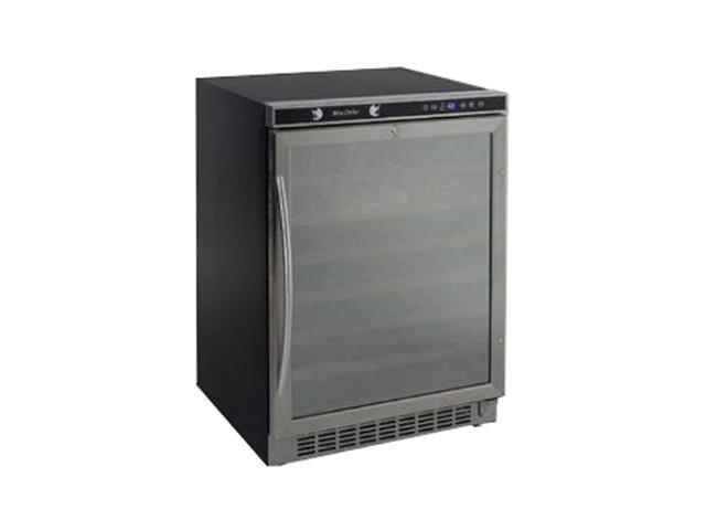 Avanti WCR5403SS 54-Bottle Built-In or Free Standing Wine Chiller with Mirror Finish Door Black with Stainless Steel Trim