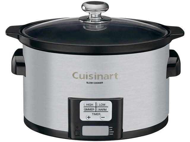 Cuisinart PSC-350C Silver 3.5 Qt. 3.5 Quart Programmable Slow Cooker