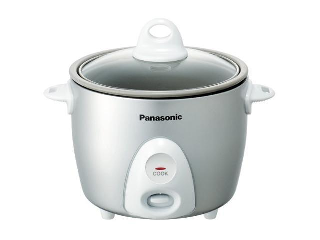 Panasonic SR-G06FG Silver 3 Cups (Uncooked)/6 Cups (Cooked) Rice Cooker