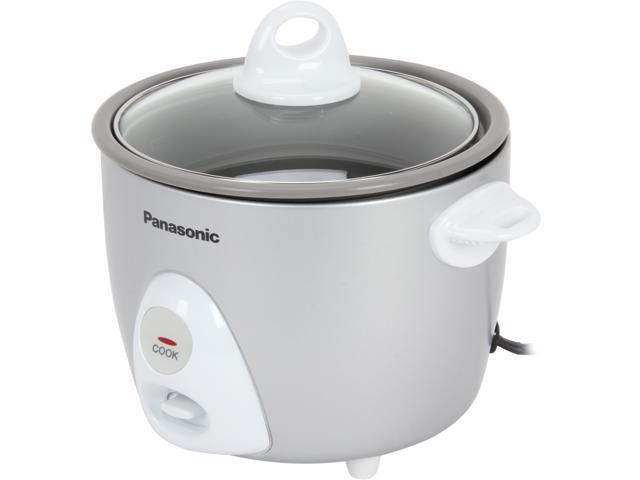 Panasonic SRG06FG Silver/White Automatic 3 Cups (Uncooked)/6 Cups (Cooked) Rice Cooker