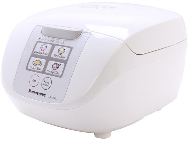 Panasonic SR-DF101 Microcomputer Controlled Fuzzy Logic 5 Cups (Uncooked)/10 Cups (Cooked) Rice Cooker with One Touch Cooking