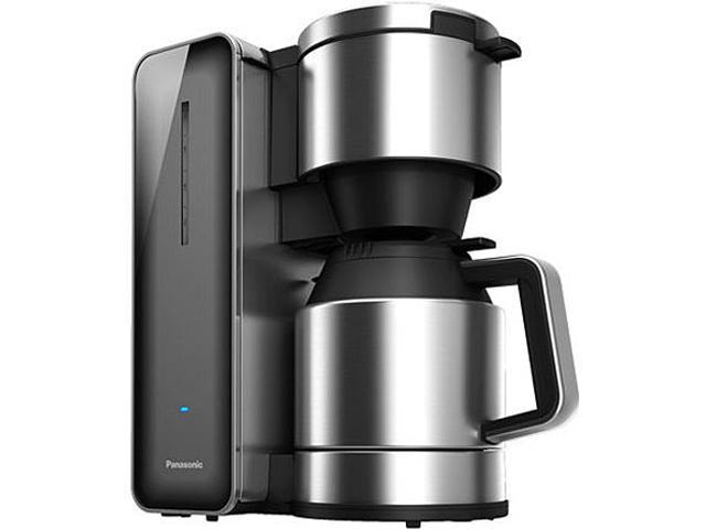 Panasonic NC-ZF1H Smoke Coffee Maker with High Quality Stainless Steel & Glass Finish