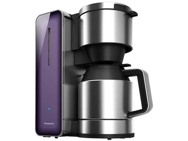Panasonic NC-ZF1V Violet Coffee Maker with High Quality Stainless Steel & Glass Finish
