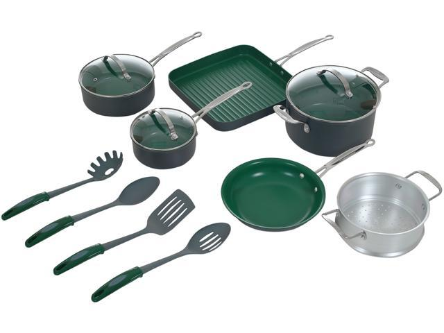 Orgreenic 80-14PGR 13 Piece Non-Stick Cookware Set