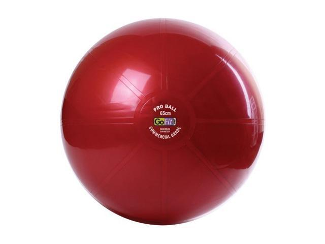 GoFit GF-55PRO Professional Stability Ball & Core Performance Training DVD (55 Cm; Dark Red)