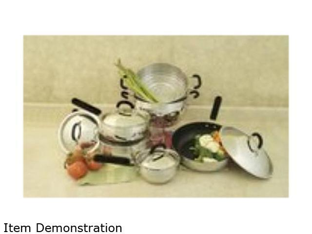 Cookpro 554 10 Pc 18/10 Belly-Shaped Cookware Set w/ encapsulated base & Santoprene Handles