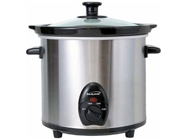 Brentwood SC130S 3 Qt. 3 Quart Slow Cooker Stainless Steel