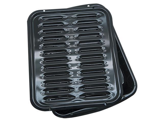 Range Kleen BP1026X Porcelain Broiler Pan 2 Pack