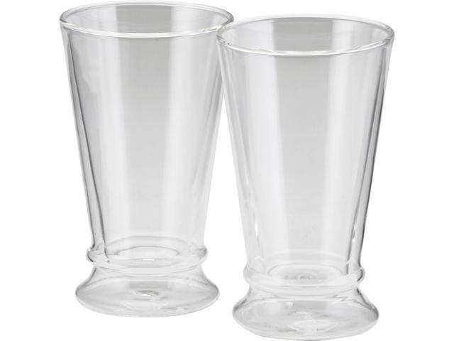 BONJOUR 53219 Coffee & Tea 2 Insulated Latte Glasses 12-Ounce
