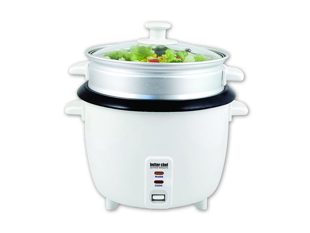 Better Chef IM-411ST White 1.8L Non-Stick Rice Cooker Steamer