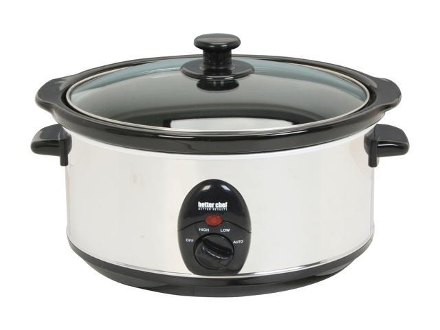 Better Chef IM-454 Stainless Steel 3.7 Qt. 3.5L Slow Cooker