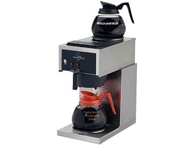 Bloomfield 8543-D2 Black/Steel Koffee King Two Warmer Coffee Brewer