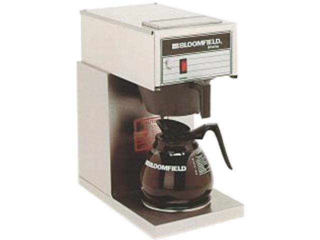 Bloomfield 8542-D1 Black/Steel One Warmer In-Line Pour-Over Coffee Brewer