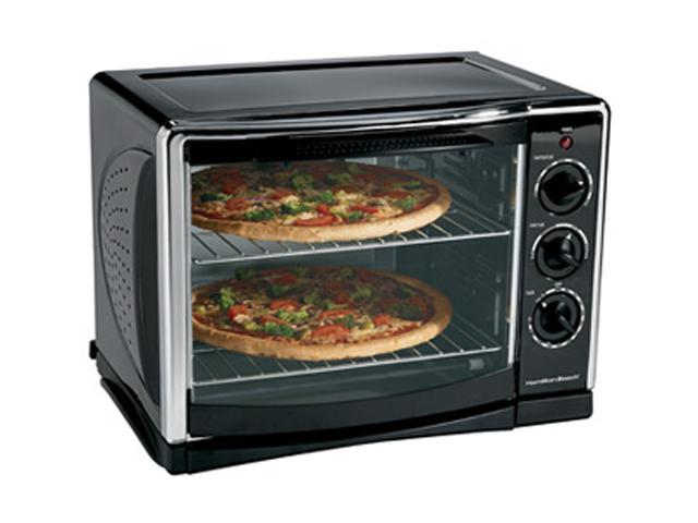 Hamilton Beach 31197R Black Countertop Oven with Convection and Rotisserie