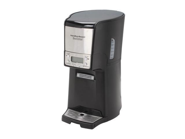 Hamilton Beach 48464 Black/Steel BrewStation Summit 12-Cup Programmable Coffeemaker