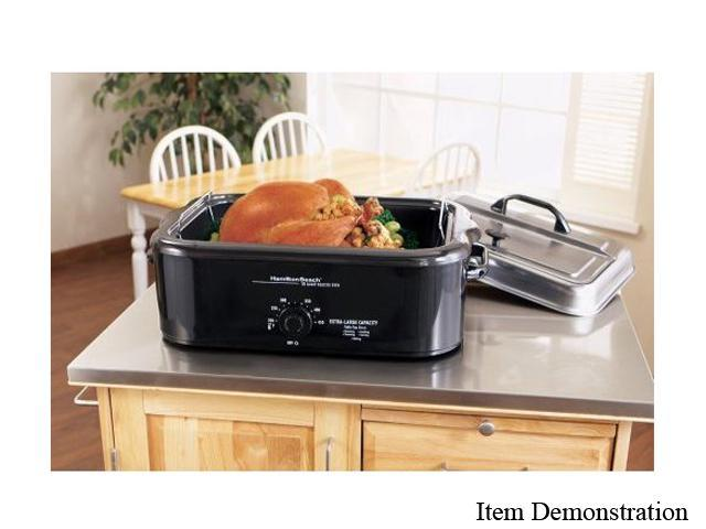 Hamilton Beach 32184 18 Quart Buffet Roaster Oven With Stainless Steel Serving Lid And Buffet Pans