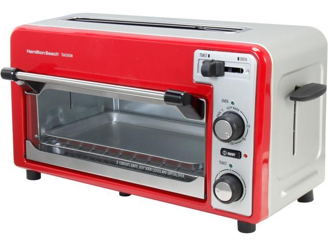 Hamilton Beach 22722 Red/Silver 2-Slice Toaster and Oven