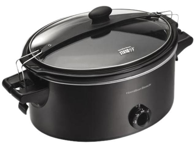 Hamilton Beach 33261 Black 6 Quart Stay or Go Slow Cooker