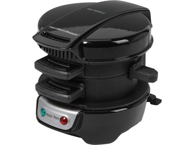 Hamilton Beach 25477 Black Breakfast Sandwich Maker