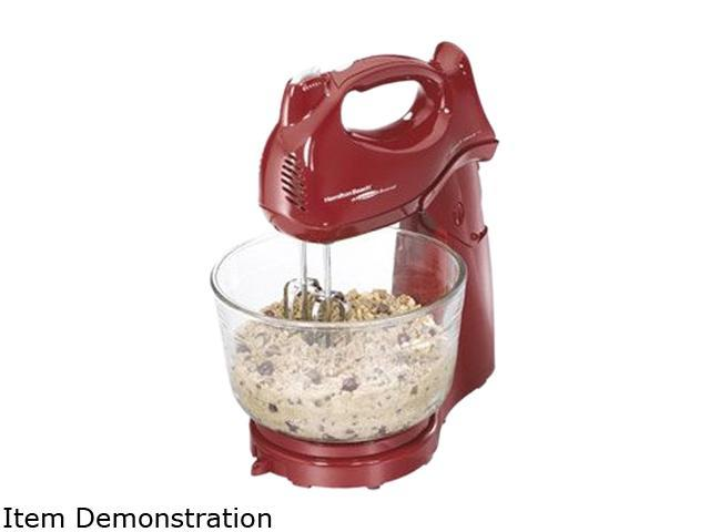 Hamilton Beach 64699 Power Deluxe 6 Speed Hand/Stand Mixer Red