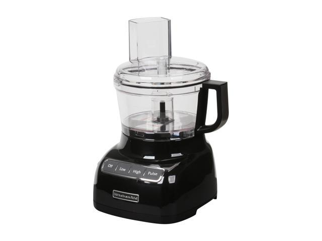 KitchenAid KFP0711OB Onyx Black 7-Cup Food Processor with ExactSlice System 3 Speeds